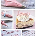 collage of photos of chocolate decorations