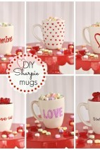 DIY Valentine's Sharpie Mugs
