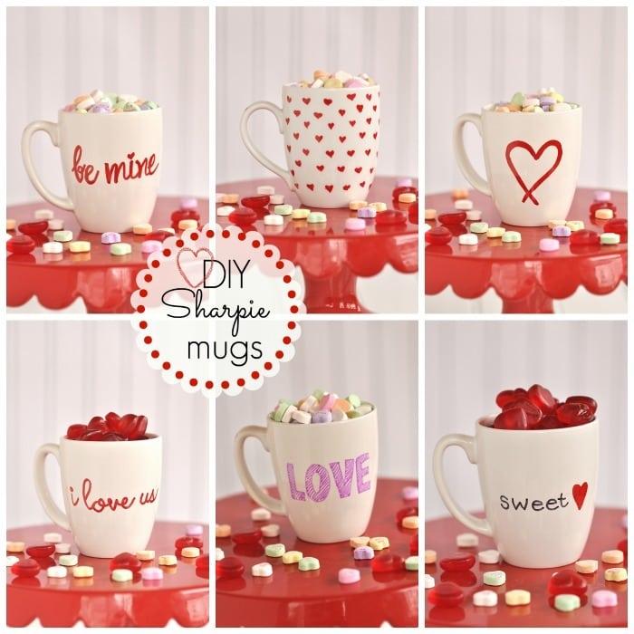 Diy Valentine S Sharpie Mugs Your Homebased Mom