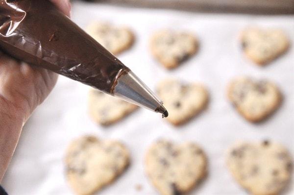 Dark Chocolate Cherry Shortbread Cookies