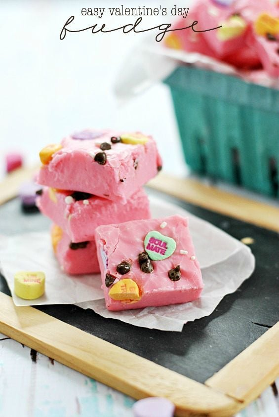 Easy Valentine's Day Fudge