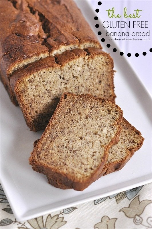 The Best Gluten Free Banana Bread - your homebased mom