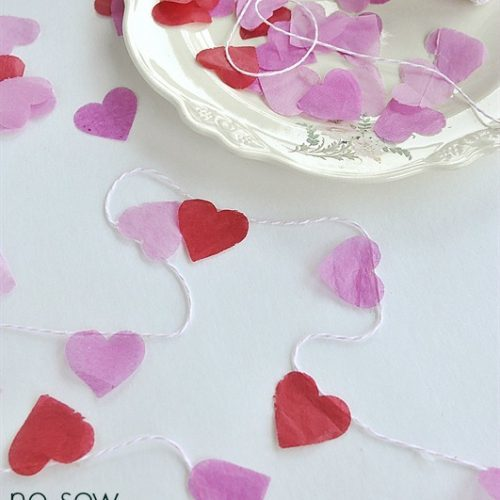 No Sew Valentine Heart Garland