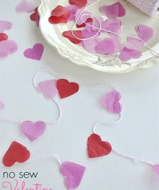 no sew heart garland