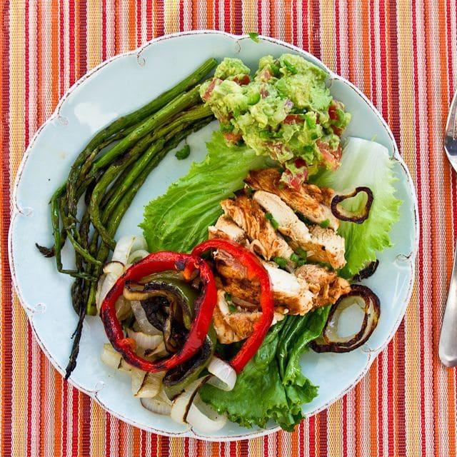 Lettuce Wrap Chicken Fajitas