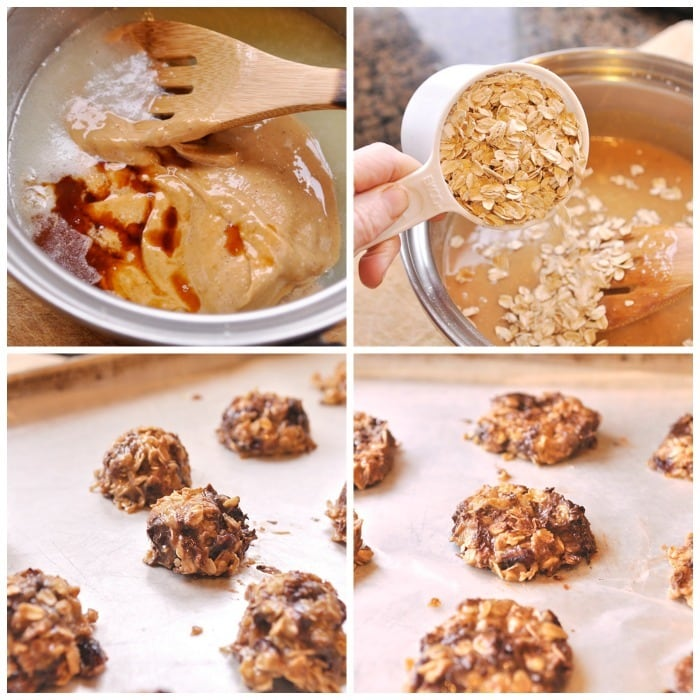 No Bake PB cookies