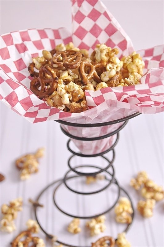 Nutty Popcorn Snack Mix