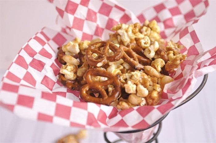 Nutty Popcorn Snack Mix
