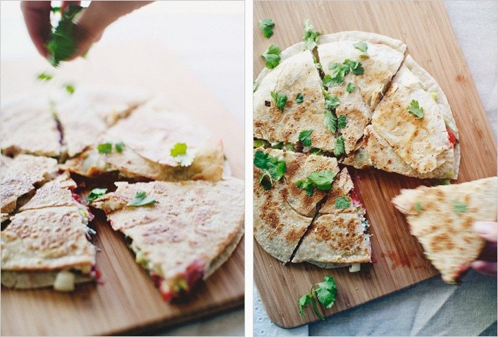 Strawberry & Leek Quesadillas