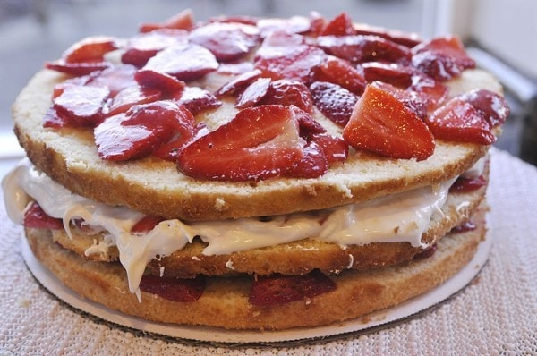 Strawberry Marshmallow Cake]