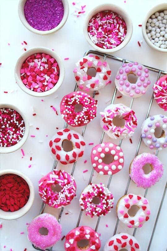 Valentine Mini Baked Donuts