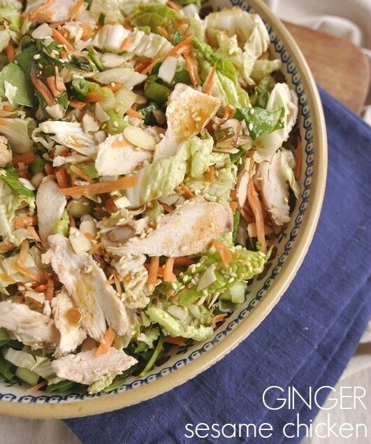 Sesame Ginger Chicken Salad Leigh Anne Wilkes
