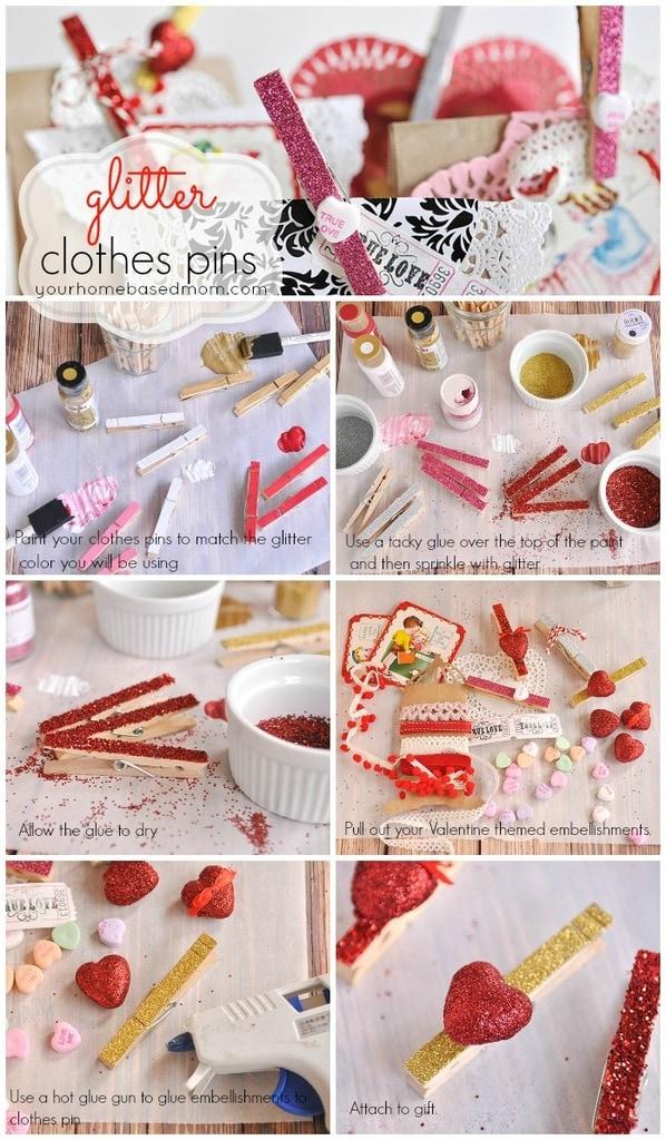 Glitter Clothes Pin
