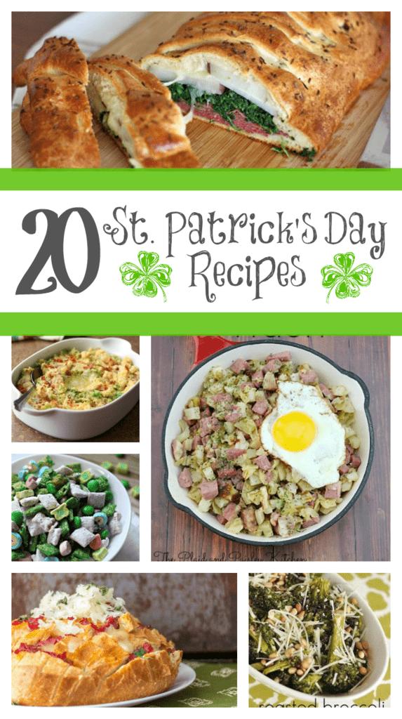 20 St. Patrick's Day Recipes from www.yourhomebasedmom.com
