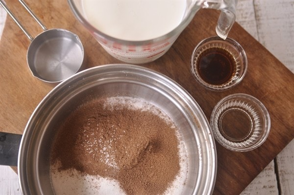Thin MInt Hot Chocolate Ingredients
