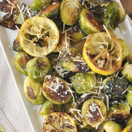 Lemon Roasted Brussels Sprouts