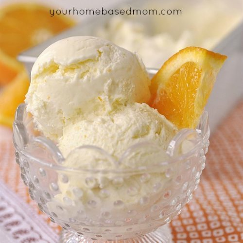 No Churn Orange Ice Cream