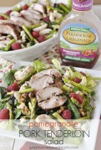 Pomegranate Pork Tenderloin Salad