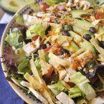 bowl of tex mex chicken salad