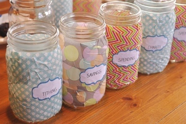 Duct tape money jars and a lesson on tithing activity day for Cute money saving jars