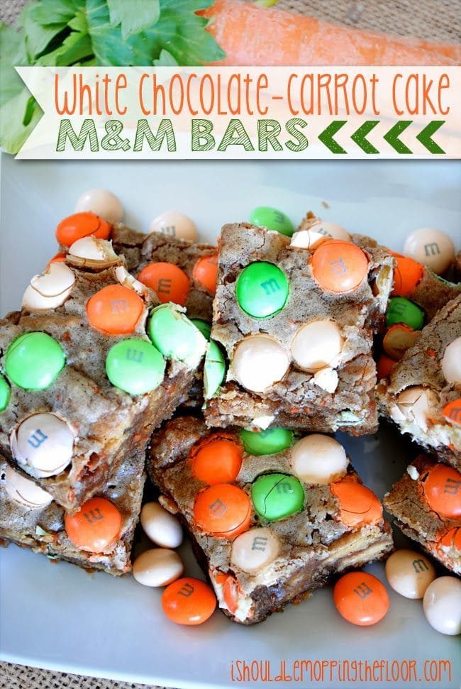 White Chocolate Carrot Cake M&M Bars