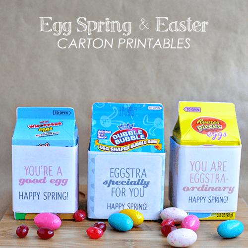 Spring & Easter Carton Printables