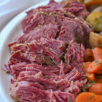 corned beef on a plate