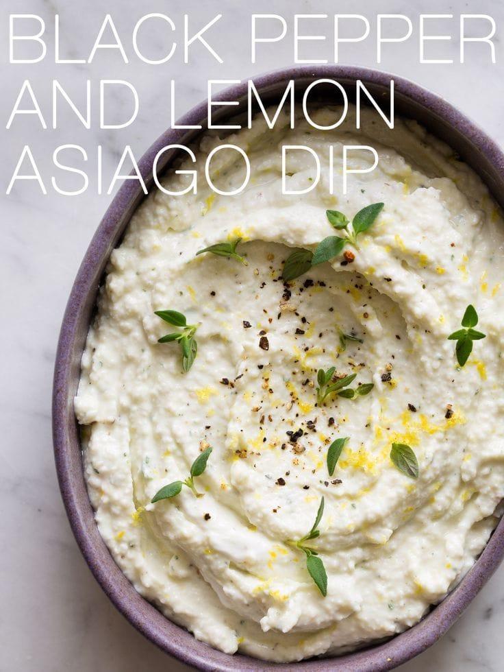 Black Pepper and Lemon Asiago Dip