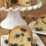 slice of blueberry buttermilk coffee cake