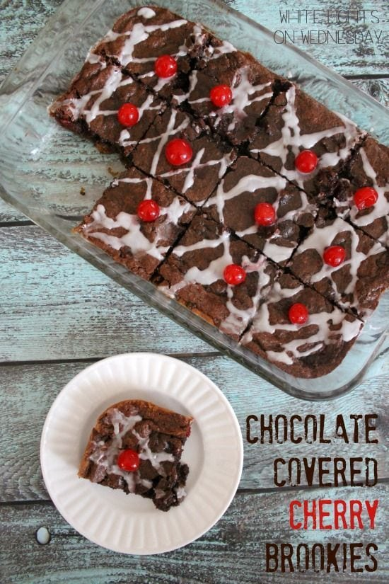 Chocolate Covered Cherry Brookies