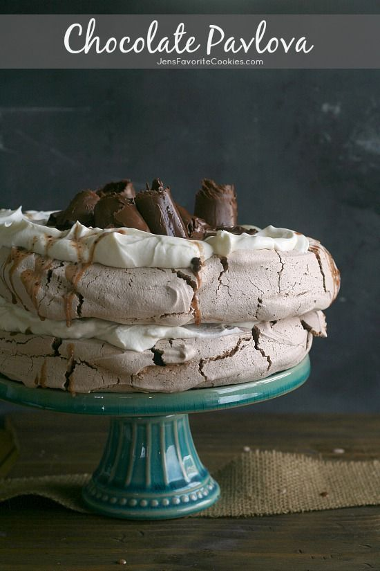 Double-Decker Pavlova with Chocolate