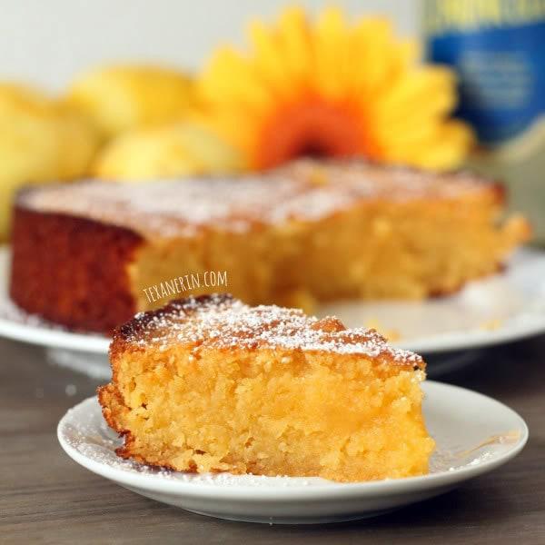 Grain-free Italian Lemon Cake (Torta Caprese Bianca)