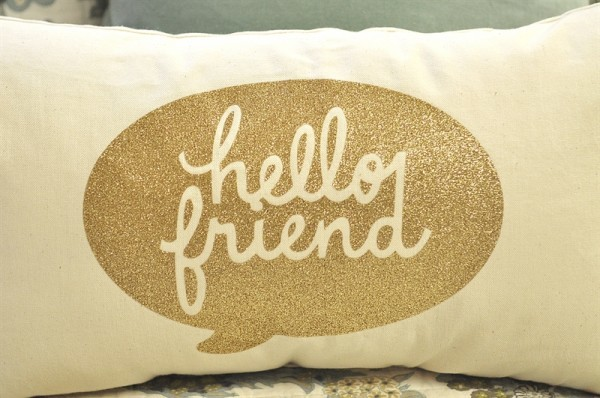 Hello Friend Pillow