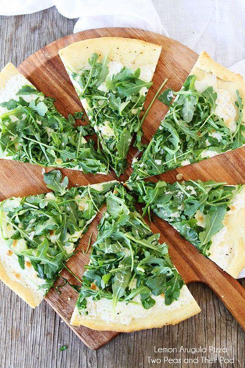 Lemon Arugula Pizza