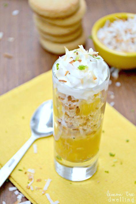 Lemon Shortbread Parfaits
