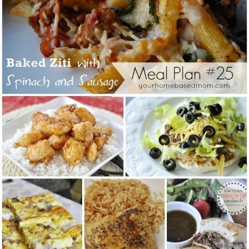 What's For Dinner}Weekly Meal Plan #25 & Giveaway!