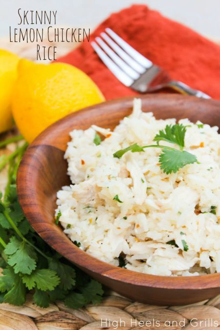 Skinny Lemon Chicken Rice