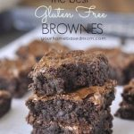 pile of gluten free brownies