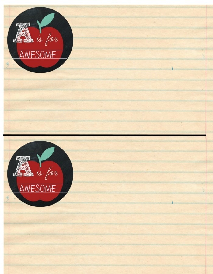 apple notecard