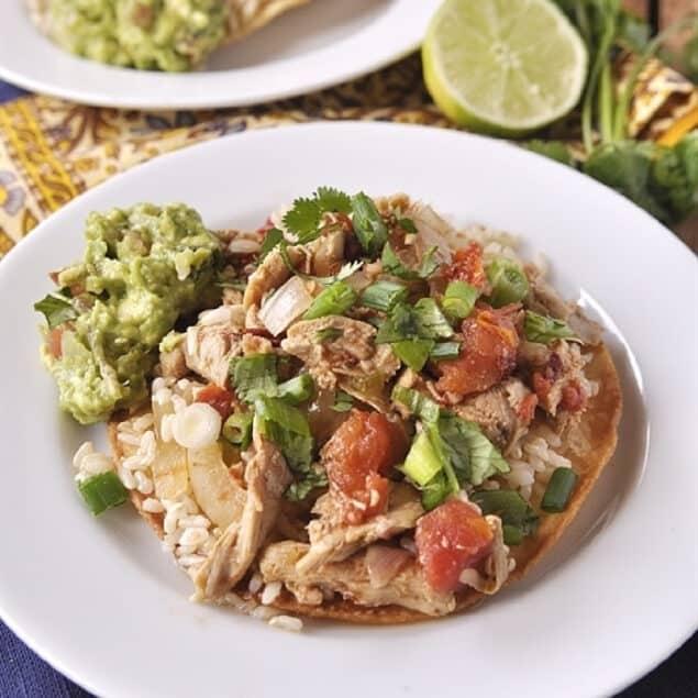plate of chicken tinga