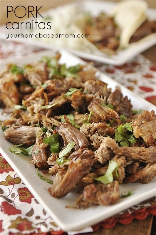 This pork reminds me of the yummy pork carnitas you get when you order ...