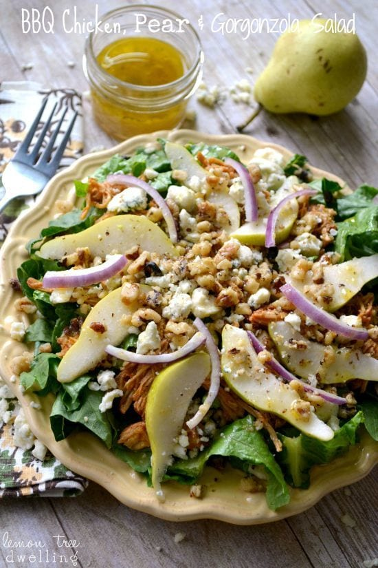 BBQ Chicken, Pear & Gorgonzola Salad from Lemon Tree Dwelling