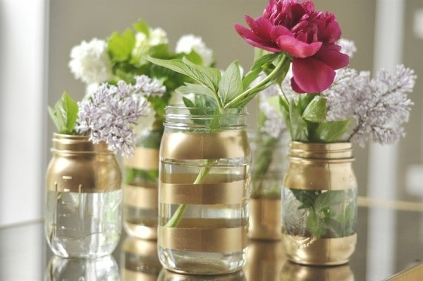 Diy gold mason jar vases 0003 e1399675370527