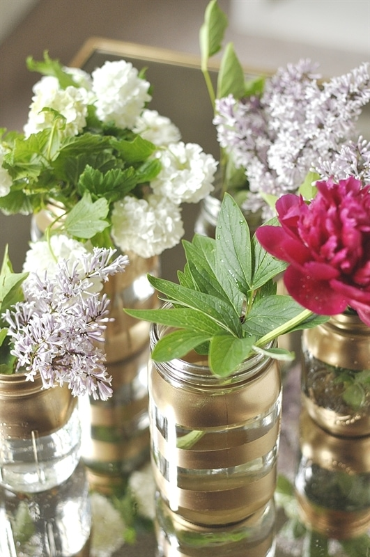 Diy Gold Mason Jar Flower Vases Your Homebased Mom