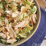 bowl of ginger sesame salad