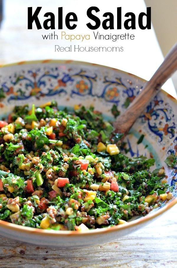 Kale Salad with Papaya Vinaigrette
