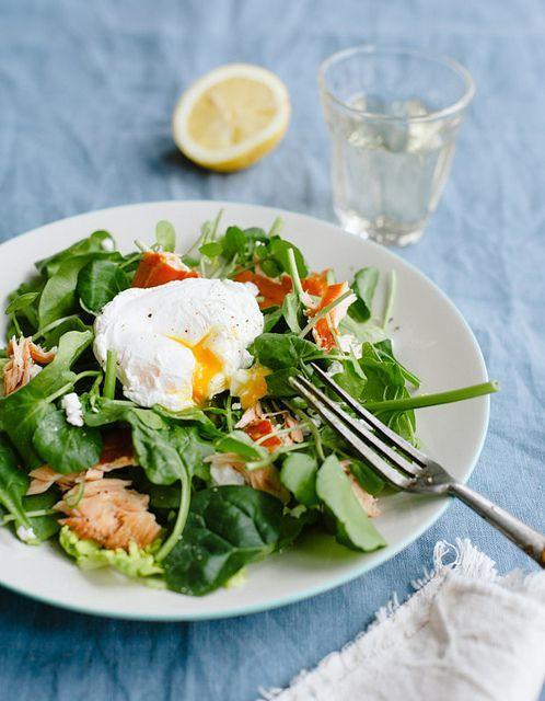 Salmon and Poached Egg Salad