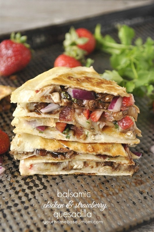 Balsamic Chicken Strawberry Quesadilla