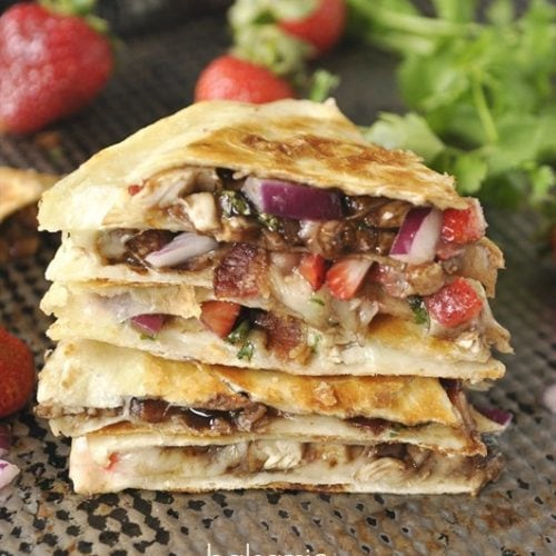 Balsamic Chicken & Strawberry Quesadilla