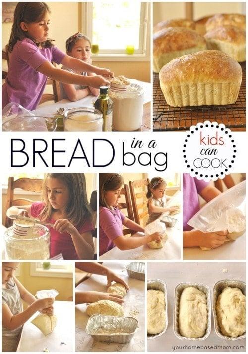Kids making Bread in A Bag